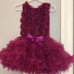 Toddler purple fun dress